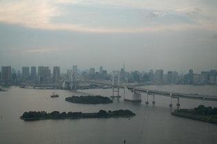 フジテレビからレインボーブリッジ・東京タワーを望む